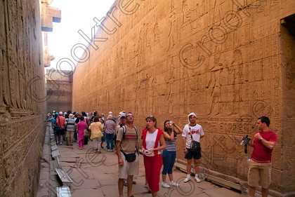 Edfu Temple Corridor Crowds EG052206JHP 